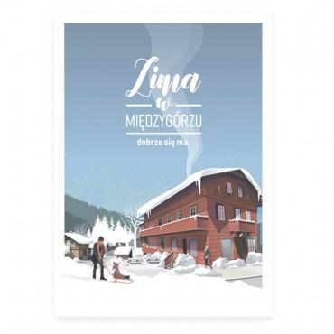 Plakat - Zima w Międzygórzu